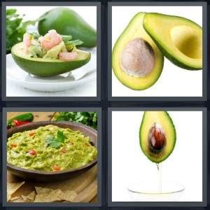 vegetables 4 pics 1 word 4 pics 1 word answer for salad pit guacamole vegetable