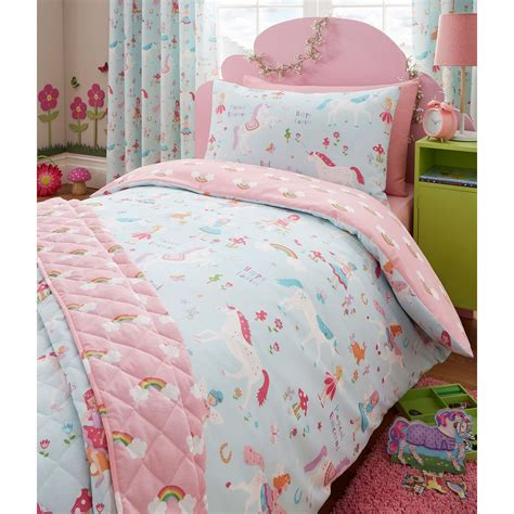 fairy bedding magical unicorn single duvet cover set unicorn fairy