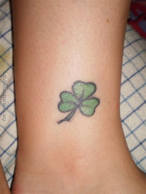 small shamrock tattoo 100 small shamrock designs my new ireland