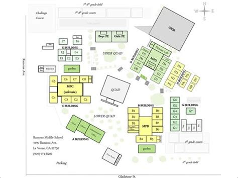 ramona middle school school map
