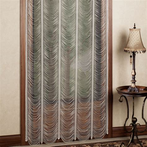 panels curtains sorrento ii ivory string lace curtain panels