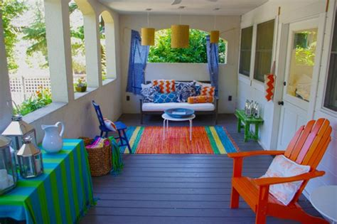 Colorful Patio Accessories The Balcony And Patio Designs Experimenting With The