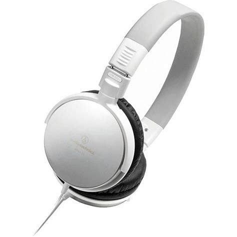 Headphone Carrying Audio Technica Ath Original White audio technica ath es7 portable stereo headphones ath es7 wh b h