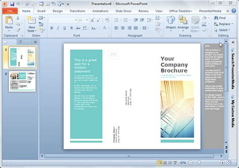 Plantillas De Folletos Simples Para Powerpoint Plantillas Power Point Presentation Handout Template Word