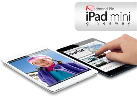 Ipad Mini Sweepstakes - giveaway ipad mini 16gb wi fi update winner announced redmond pie