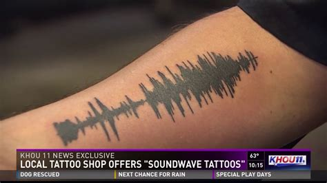 sound wave tattoos local shop offers soundwave tattoos