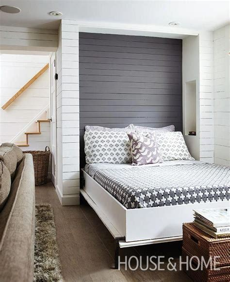 square foot basement  murphy bed