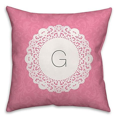 white throw pillows for bed doily square throw pillow in pink and white bed bath