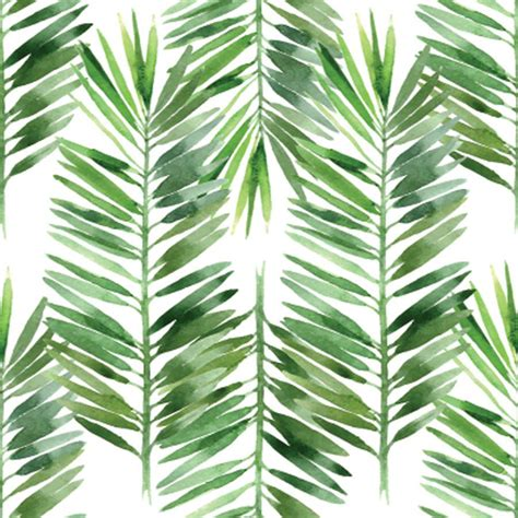 watercolor leaf pattern watercolor palm tree leaf pattern mural murals your way
