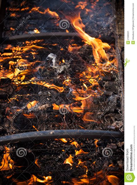 bed on fire bed on the fire stock image image 21686501