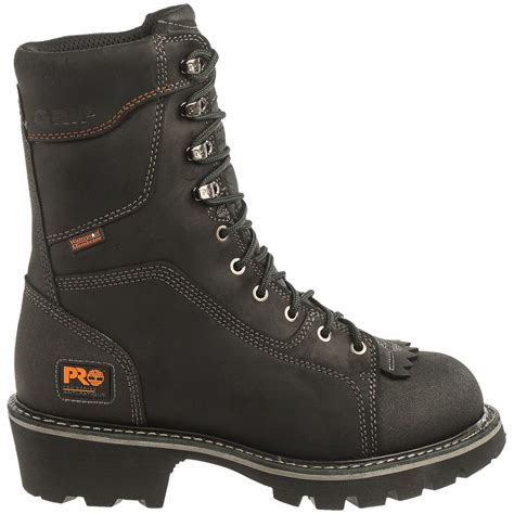 soft boots for timberland pro rip saw soft toe logger work boots for