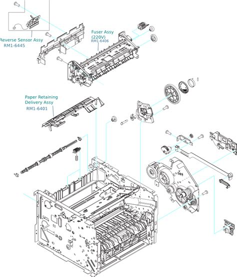 Parts Of An L hp laserjet p2035 and p2055 fuser and output
