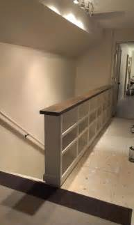 Indoor Handrails Wall Half Wall Instead Of A Stair Railings Studio Design