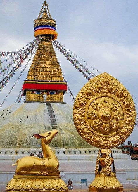 Pot Tempel houten boeddhistische tempel pot met deksel nepal