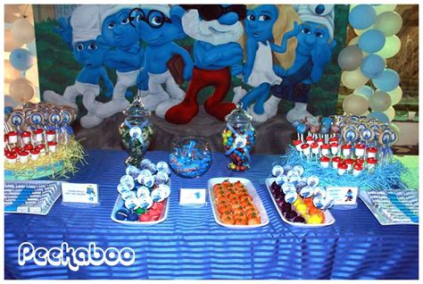 smurfs theme decorations the smurfs birthday ideas birthday ideas and