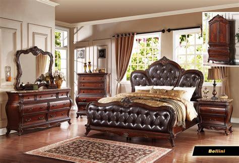 queen bedroom set with armoire bellini 6 pc cherry queen bedroom set armoire mirror