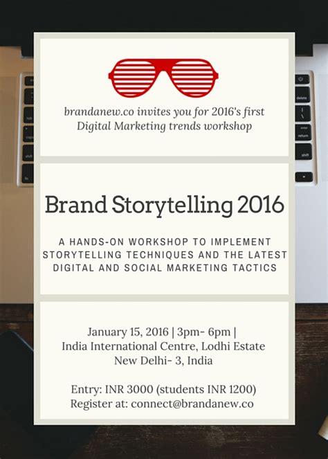 invite digital marketing and brand storytelling trends 2016 workshop