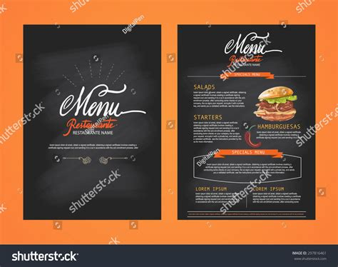 restaurant brochure template product list template