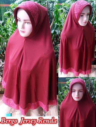 Bergo Serut Renda Bhan Jersey jilbab bergo jersey renda sentral grosir jilbab kerudung i supplier jilbab i retail grosir