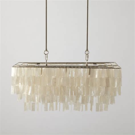 Capiz Chandelier Rectangular