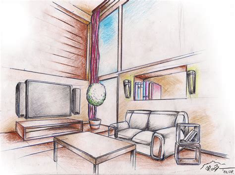 Interior Designer Drawings by Interior Drawing 1 By Sloeb On Deviantart
