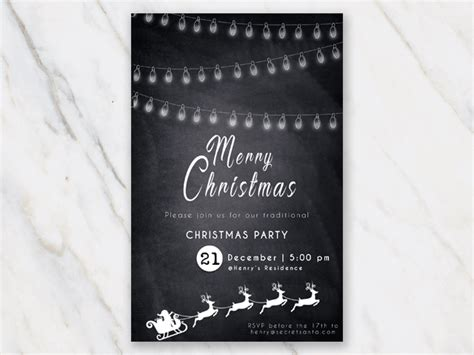 printable christmas invitation templates  word