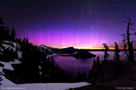 Northern Lights Oregon by Apod 2012 July 25 Pink Crater Lake