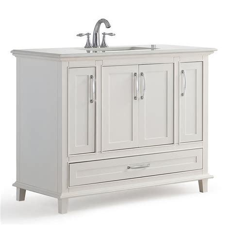 quartz bathroom vanity top simpli home ariana 42 quot white quartz marble top bathroom