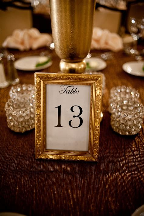gold table number frames top 25 ideas about table numbers on