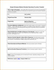 template for standard operating procedures manual 13 standard operating procedures exles