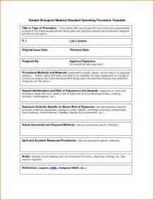 sop format template 13 standard operating procedures exles