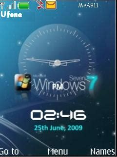 clock themes windows download windows 7 clock nokia theme mobile toones