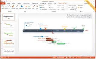 add powerpoint template creating visual schedules and gantt charts using a