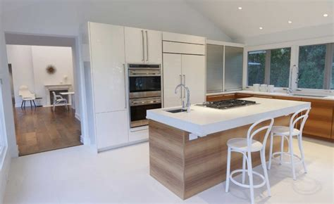 centre island house contemporary white kitchen