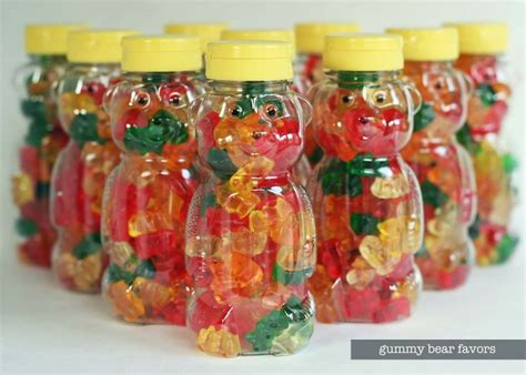water themed birthday party honeybear gummy bear centerpieces source clear labels photoshop