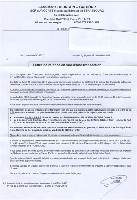 Exemple De Lettre Tresor Amende Pour La Cts 224 Strasbourg Une Amende 224 Payer Une Lettre D Avocat