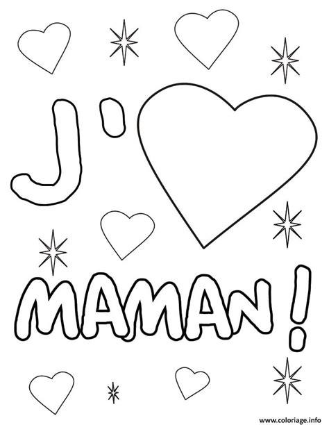 Coloriage Coeur Maman Dessin