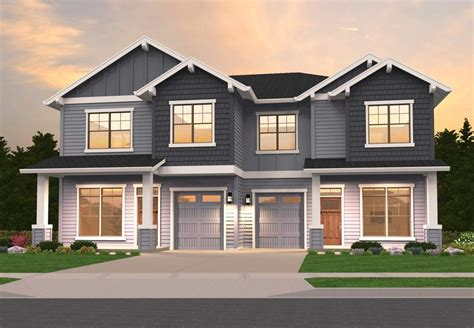 2 family house craftsman duplex 85162ms architectural designs house