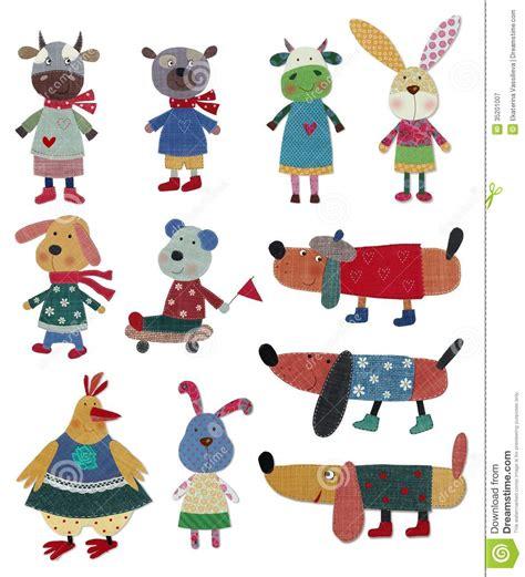 ejemplos de collage para ninos animales dom 233 sticos personajes de dibujos animados imagen