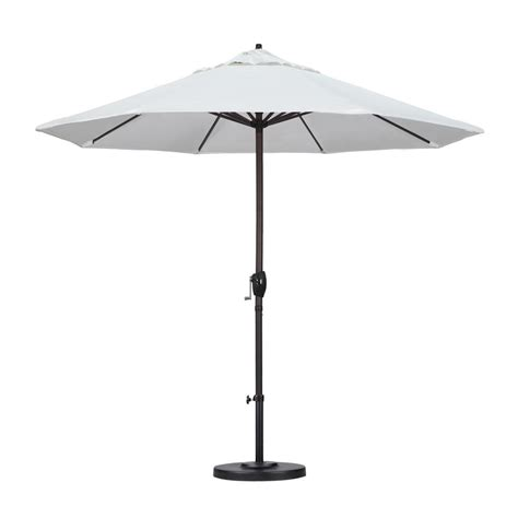 Olefin Patio Umbrella California Umbrella 9 Ft Aluminum Auto Tilt Patio Umbrella In White Olefin Ata908117 F04 The