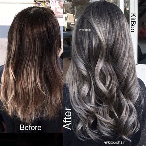 how to create gray highlights in brown hair best 25 brown hair silver highlights ideas on pinterest