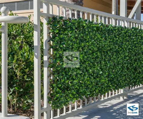 Artificial Ficus Expandable Trellis Privacy Fence