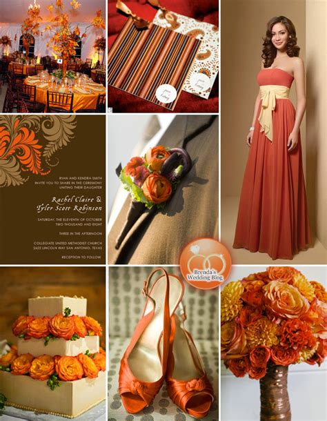 wedding colour themes autumn fall wedding ideas wedding party supplies