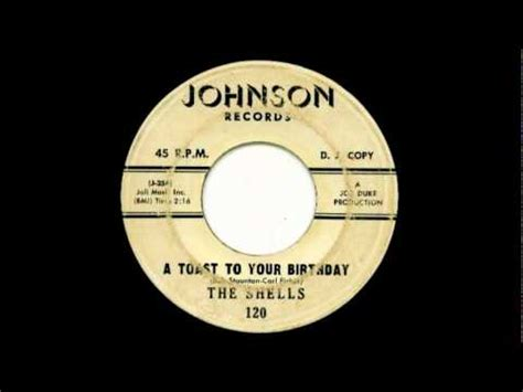 gus geter a toast to your birthday the shells 1962 45 johnson 120