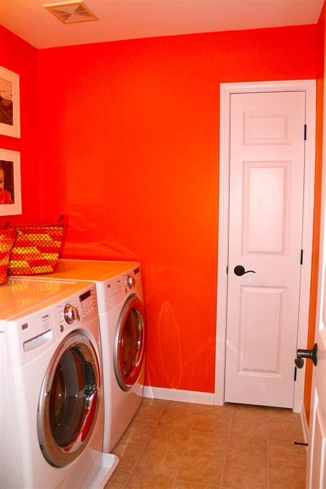 Orange Laundry Room Home Design And Decor Orange Laundry