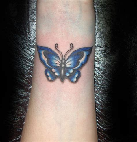 butterfly tattoo for men blue butterfly on wrist for tattooshunt
