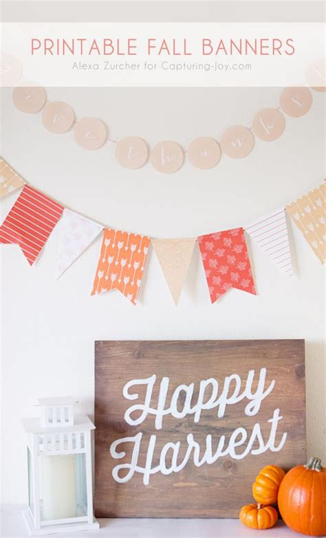 print out decorations printable fall banner