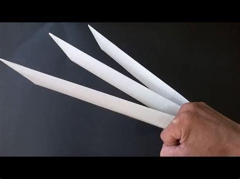 Wolverine Origami - como hacer las garras de wolverine garras de papel