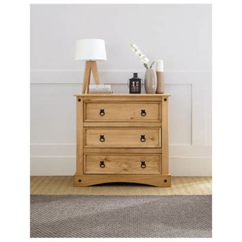 small solid wood chest of drawers buy cordoba 3 drawer small chest solid wood from our
