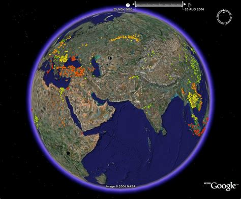 earth maps the spread of avian flu with time new maps exploiting earth s time series function